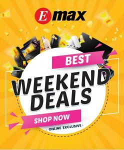 Emax oman Weekend deals Leaflet Cover Page